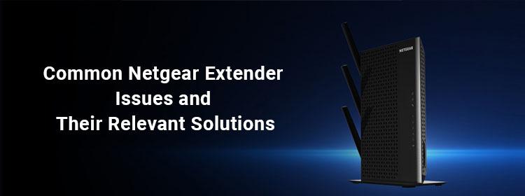 common netgear extender issues